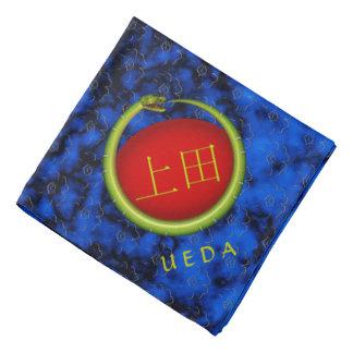 Uedaのモノグラムのヘビ バンダナ