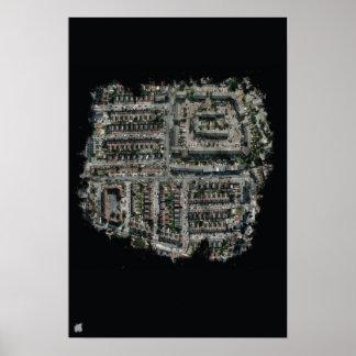 UFの通りの小さいポスター ポスター