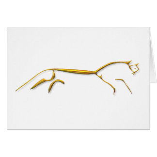 Uffingtonの馬の金ゴールドカード カード
