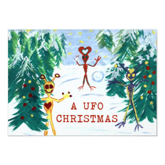 UFOのクリスマス カード