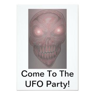 UFOのパーティの招待状 カード
