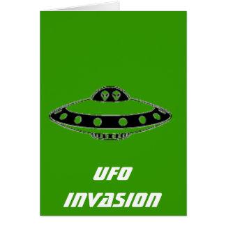 UFOの侵入! グリーティングカード