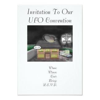 UFOの大会への招待状 カード