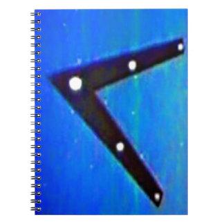 UFOの宇宙飛行船 ノートブック