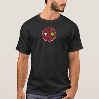 UFOの悪ふざけは悪ふざけのロゴ-暗闇です Tシャツ