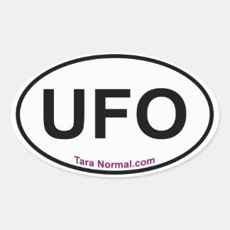 UFOの楕円形のステッカー 楕円形シール