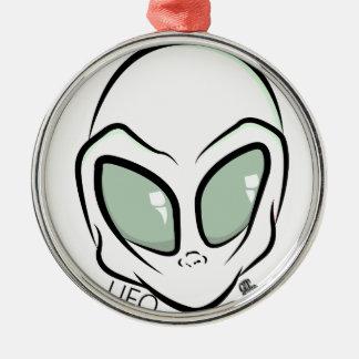 UFOの白い銀河の火星の外国の頭部 メタルオーナメント