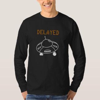 UFOの白による遅らせられた飛行 Tシャツ