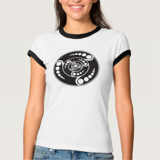 UFOの穀物の円のデザイン Tシャツ
