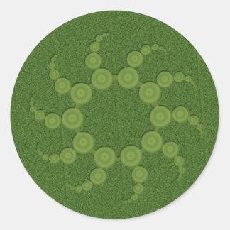 UFOの穀物の円 ラウンドシール