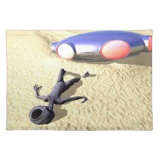 UFOの衝突のアメリカ人のMoJoのランチョンマットのようなRoswell ランチョンマット