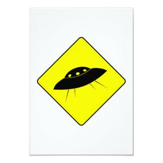 UFOの警告標識 カード