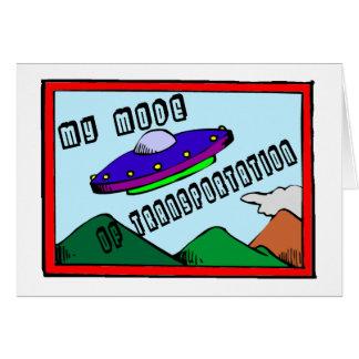 UFOは交通機関の私のモードです カード