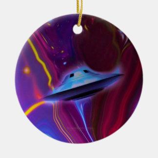 UFOマゼンタ次元のオーナメント 陶器製丸型オーナメント
