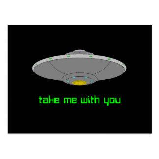 UFO -自発的な外転 ポストカード