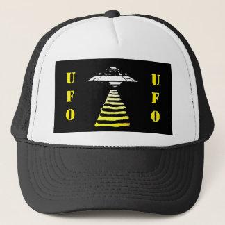 UFO -黒く及び白い黄色 キャップ