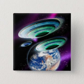 UFOs 5.1cm 正方形バッジ
