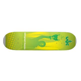 UGC ASHEの緑 21.6CM オールドスクールスケートボードデッキ