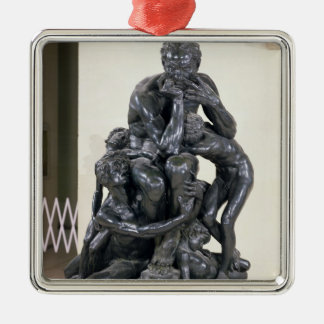 Ugolinoおよび彼の息子1860年 シルバーカラー正方形オーナメント