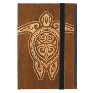 Uhane Honuの模造のな木製のハワイのカメ iPad Mini ケース