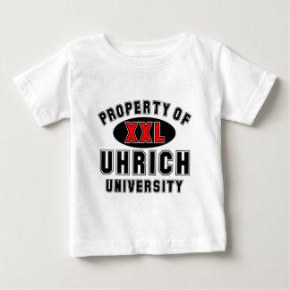 Uhrich大学の特性 ベビーTシャツ