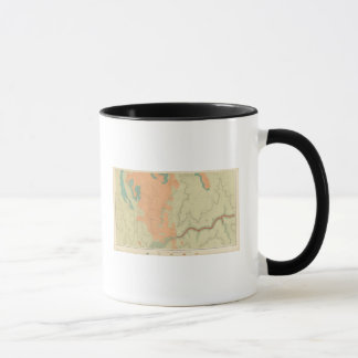 Uinkaretのプラトーの南半分の地図 マグカップ