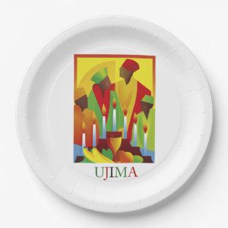 UJIMA Kwanzaaのパーティーの紙皿 ペーパープレート