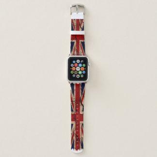 UK Dirty Vintage Union Jack British Flag Apple Watchバンド