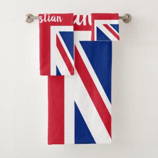 UK Union Jack British Themed Personalized バスタオルセット