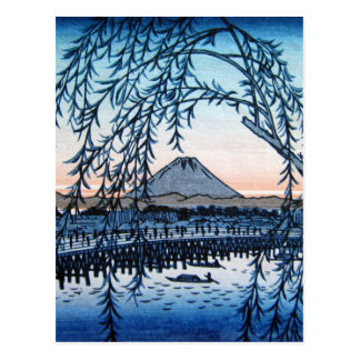 Ukiyo-e富士山日本 ポストカード