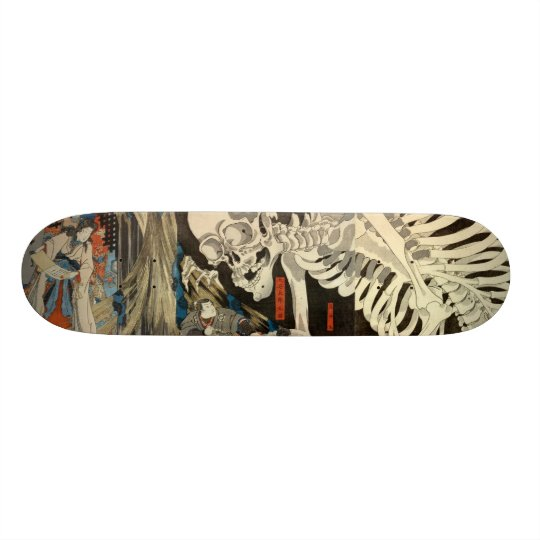 ukiyoe japan skateboard skull 20.6cm スケートボードデッキ
