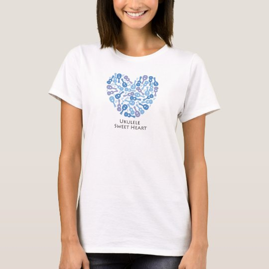 Ukulele Sweet Heart Tシャツ