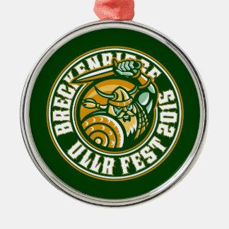 Ullrの円の緑2015年 メタルオーナメント