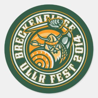 UllrのFest 2014の緑 ラウンドシール