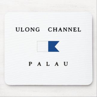 Ulongチャネルのパラオ諸島のアルファ飛び込みの旗 マウスパッド