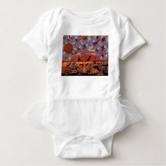 Uluru -確実な原生の芸術 ベビーボディスーツ