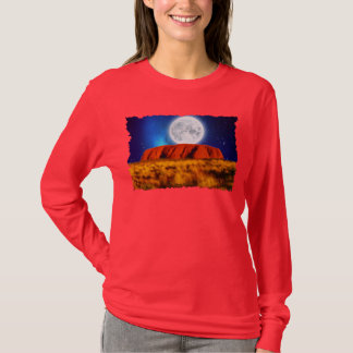 Uluru Ayerの石のオーストラリア人の奥地に芸術のワイシャツ Tシャツ