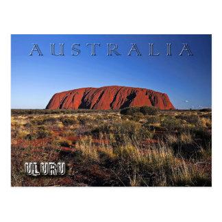 Uluru (Ayersの石)、オーストラリア ポストカード