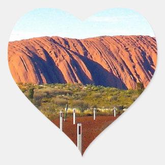 Uluru/Ayersロックのオーストラリア ハートシール