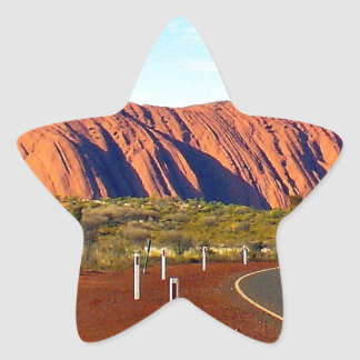 Uluru/Ayersロックのオーストラリア 星シール