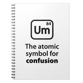 Um混乱のための原子記号 ノートブック
