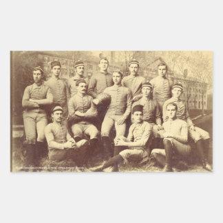 UMassのフットボール1888年 長方形シール