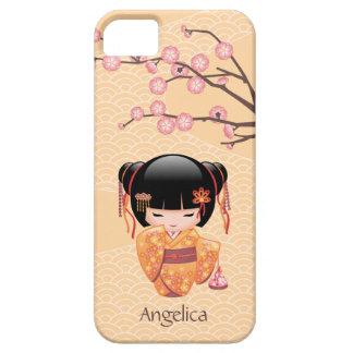 Ume Kokeshiの人形-日本のなモモの芸者女の子 iPhone SE/5/5s ケース