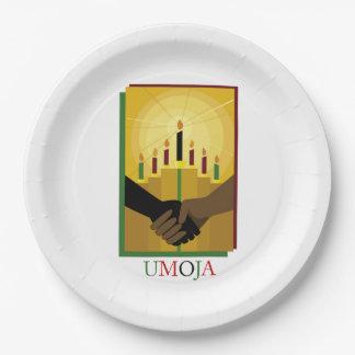 UMOJA Kwanzaaのパーティーの紙皿 ペーパープレート
