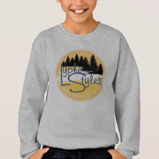 UMOL LypheStylesのロゴのマツ森林はスエットシャツをからかいます スウェットシャツ