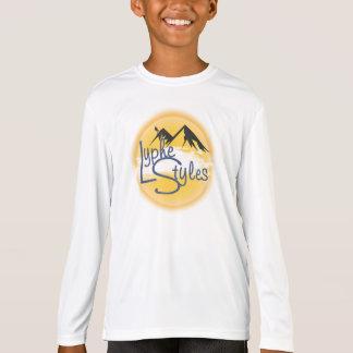 UMOL LypheStylesのロゴの登山者の子供のTシャツ Tシャツ
