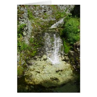Unalaskaの島の景色の滝 カード
