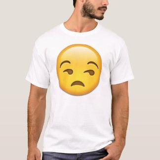 Unamused顔のemoji Tシャツ