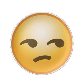 Unamused Emoji 磁器プレート
