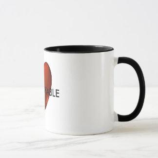 UNBREKABLEの反抗的なハートのロゴのコーヒー・マグ マグカップ